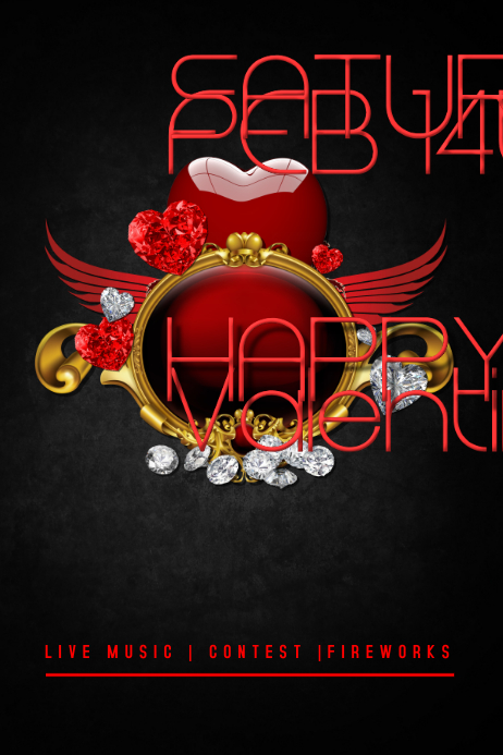Valentine`s Day Flyer template Poster