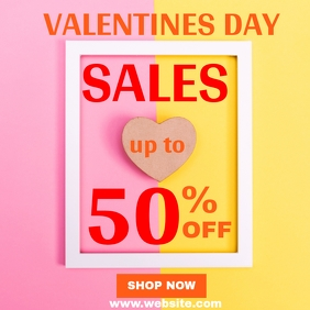 Valentines day frame sales instagram post ad