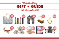 Valentines Day Gift Guide for Her landscape te Poster template