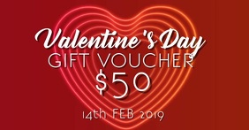 Valentines day gift voucher
