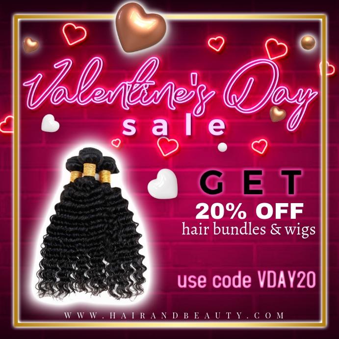 Valentines Day Hair Flyer