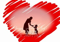 Valentines Day Heart Family Pic Video Postal template