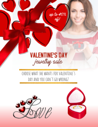 Valentines Day Jewelry Sale flyer template