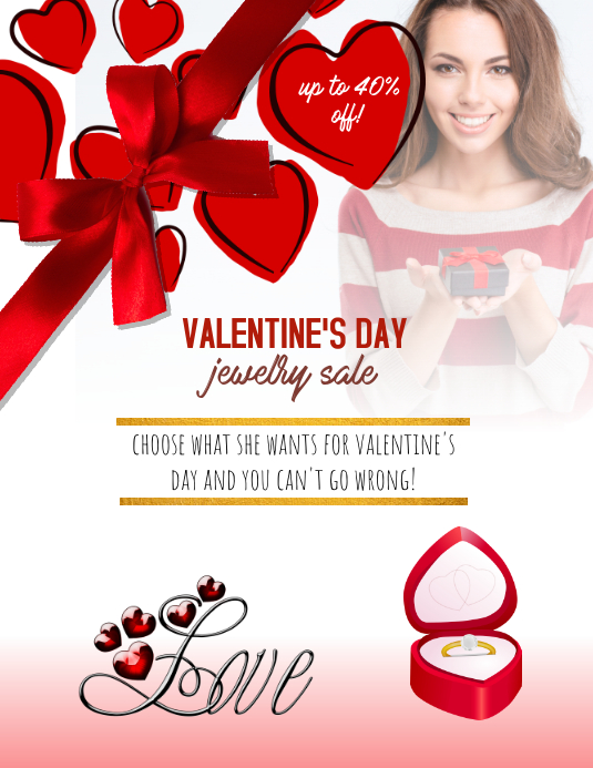 Valentines Day Jewelry Sale flyer Template | PosterMyWall