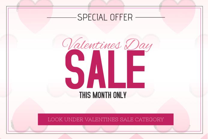valentines day landscape sale poster template