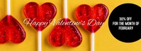 Valentines Day Lollipop Candy Shop Facebook Cover Photo template