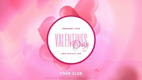 Valentines Day Party Event Facebook Cover video template