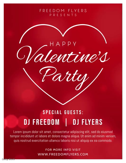 Valentines Day Party Flyer Video
