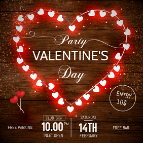 Valentines Day Party Instagram Post Template