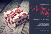 Valentines Day Party Invitation Etiqueta template