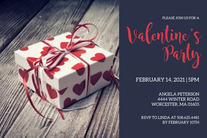 Valentines Day Party Invitation Label template