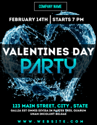 Valentines day party night club flyer