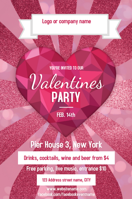 Valentines Day Party Poster