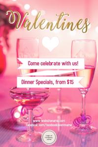 valentines day party poster - Valentine Dinner Specials