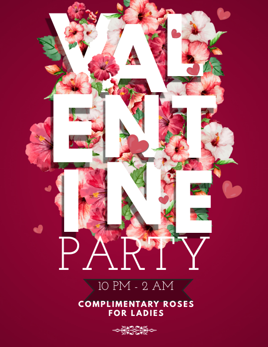 Valentines Day Party Flyer Template Postermywall