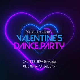 valentines day party template