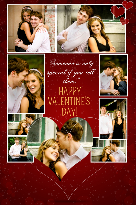 Toll Valentines Day Photo Collage Template