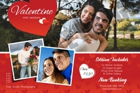 Valentines Day Photography Mini Session ป้าย template