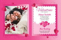 Valentines Day Photography Mini Session Label template