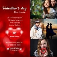 Valentines Day Photography Mini Session Quadrato (1:1) template