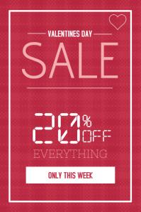 valentines day pink portrait sale poster