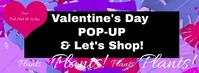 Valentines Day Pop-UP Banner Facebook Cover Photo template