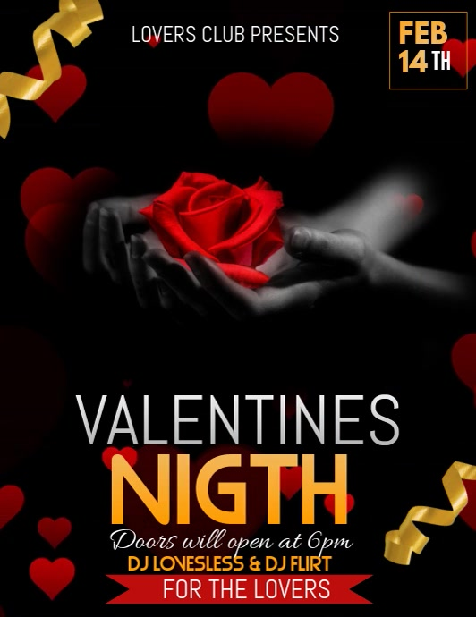 Valentines Day poster, Event poster, Valentines
