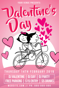 Valentines Day Poster template