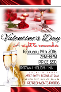 customizable design templates for valentines dinner party flyer