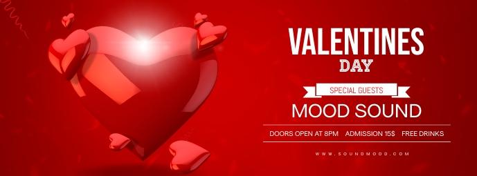 Valentines Day Poster Template Foto Sampul Facebook