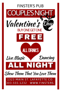 Valentine's Day Pub Event