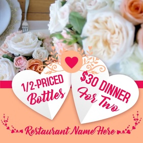 Valentines Day Restaurant Promo Video Template