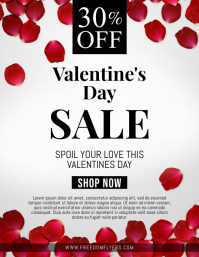Valentines Day Retail Flyer Volante (Carta US) template