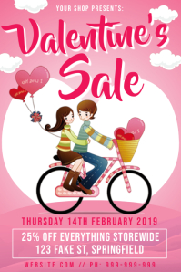 Valentines Day Retail Sale Poster