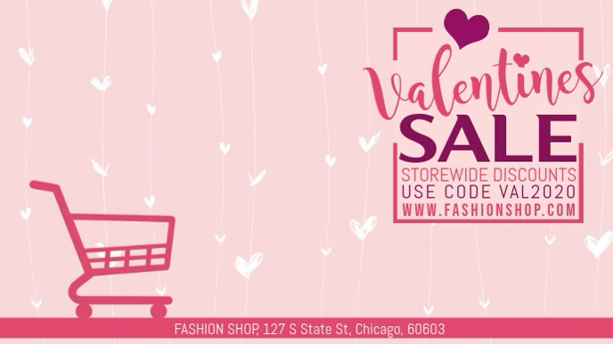 Valentines Day Retail Sale Video Template