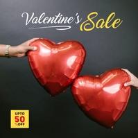 Valentines Day Sale Ad Cuadrado (1:1) template