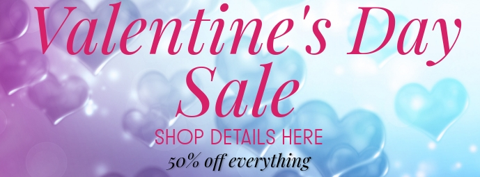 VALENTINES DAY SALE Foto Sampul Facebook template