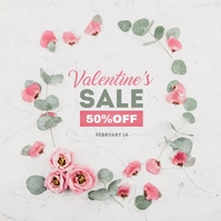 Valentines Day sale Album Cover template