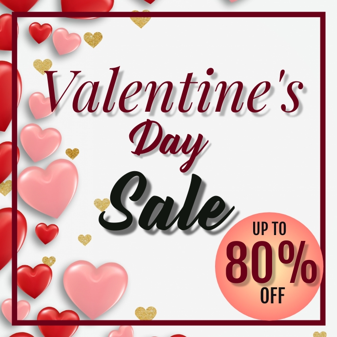 Valentines Day Sale โพสต์บน Instagram template
