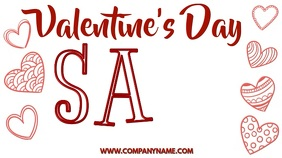 Valentines Day Sale Digital Template