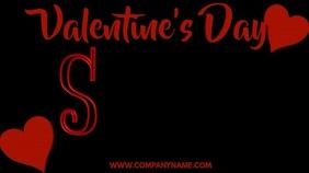 Valentines Day Sale Digital Template Цифровой дисплей (16 : 9)
