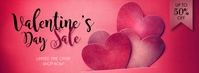 Valentines Day Sale Facebook Cover Ikhava Yesithombe se-Facebook template