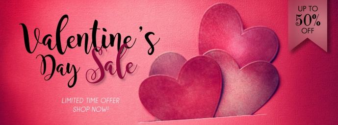 Valentines Day Sale Facebook Cover template