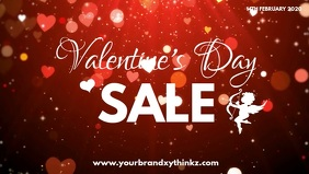 Valentines Day Sale hearts Retail Shopping ad