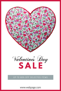 Valentines Day Sale Retail Flyer Template
