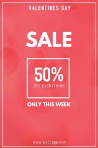 Valentines day sale video flyer template