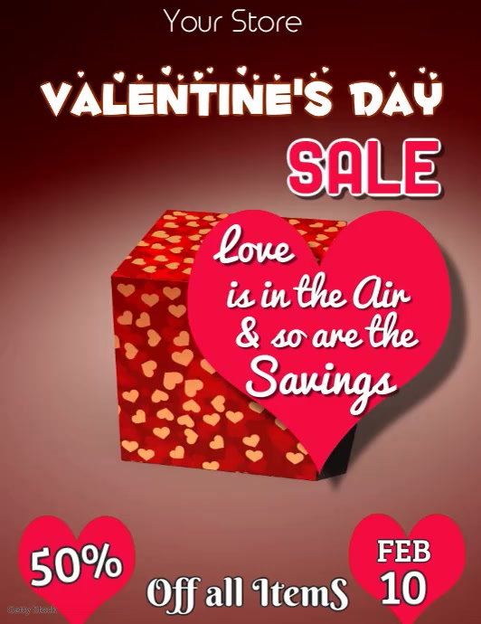 Valentines Day Sale Video Flyer