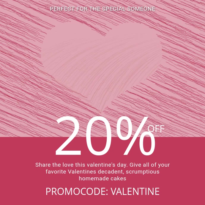 Valentines Day Sale Video template