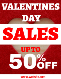 Valentines day sales flyer ad