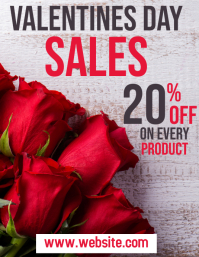 valentines day sales flyer